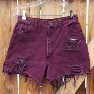 Vintage high rise Jean mom shorts distressed sz
